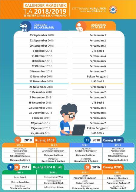 Kalender WEEKEND SMT GANJIL 20182019_rev